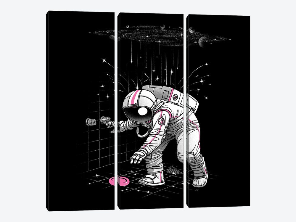 Meteor Shower Astronaut by Tobias Fonseca 3-piece Canvas Print