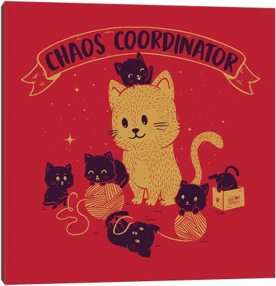 Chaos Coordinator Canvas Art Print