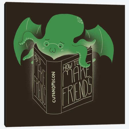 How To Make Friends Canvas Print #TFA69} by Tobias Fonseca Canvas Art