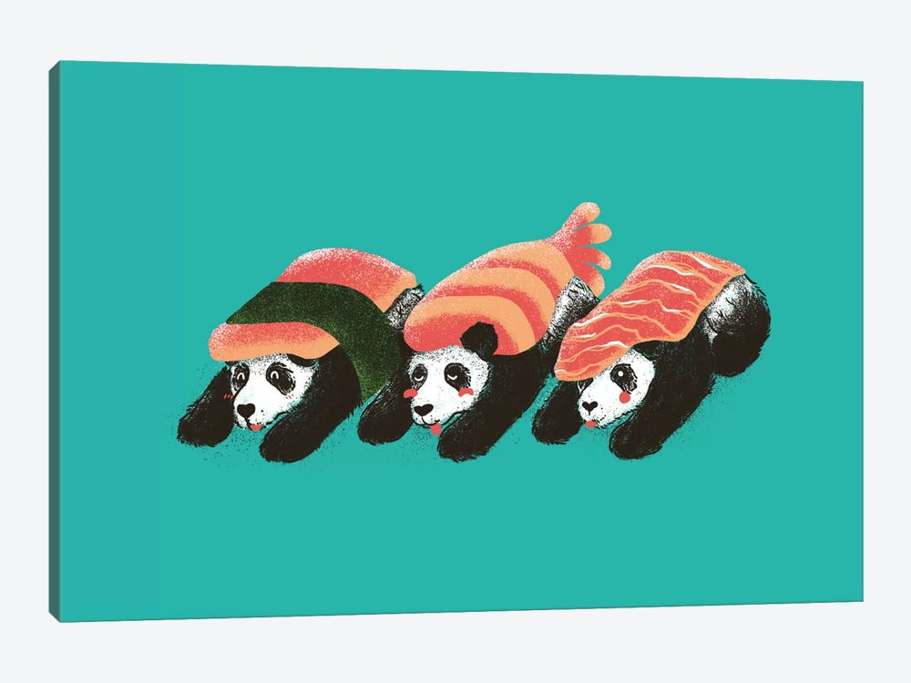 Panda Sushi by Tobias Fonseca 1-piece Canvas Artwork