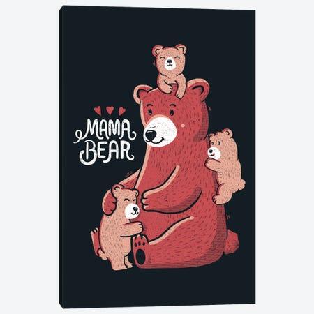 Mama Bear Canvas Print #TFA704} by Tobias Fonseca Canvas Print