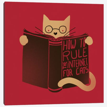 How To Rule The Internet For Cats Canvas Print #TFA70} by Tobias Fonseca Canvas Print
