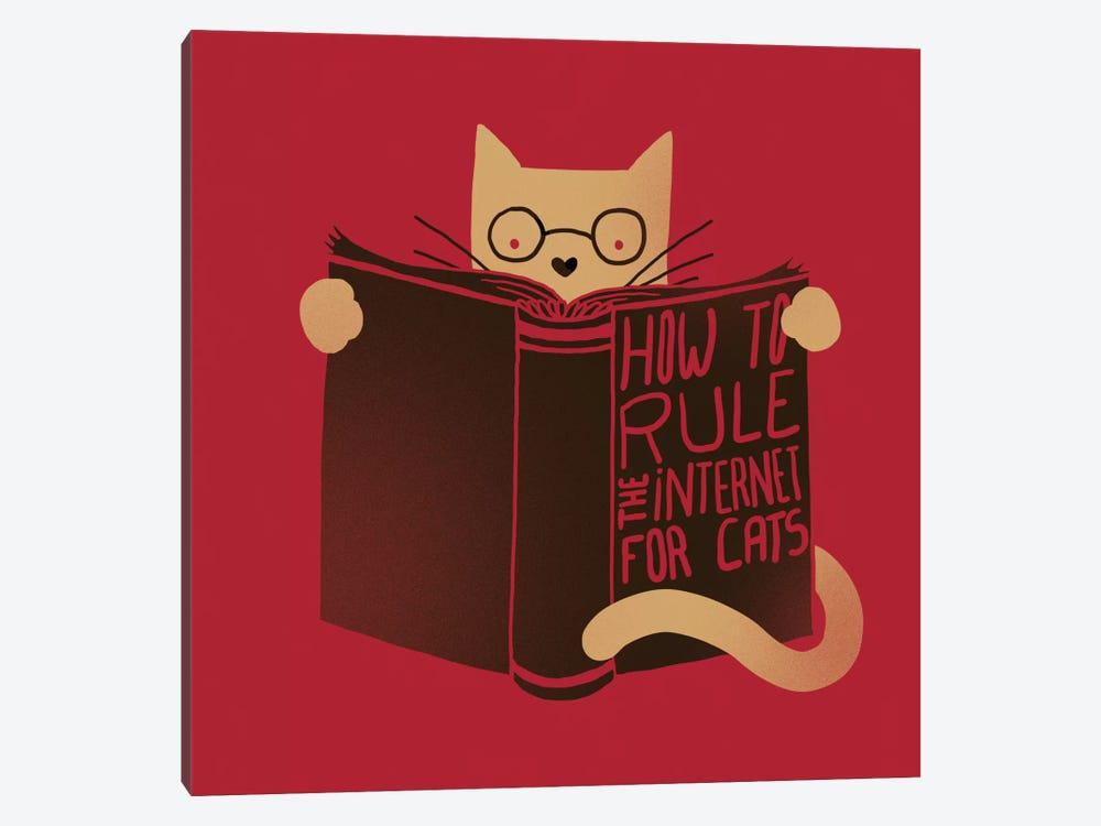 How To Rule The Internet For Cats by Tobias Fonseca 1-piece Canvas Art