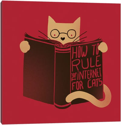 How To Rule The Internet For Cats Canvas Art Print