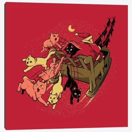 Santa Cats Xmas Cats For You Canvas Print #TFA743} by Tobias Fonseca Canvas Art