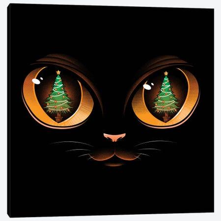 Xmas Cat Attack Canvas Print #TFA746} by Tobias Fonseca Canvas Print