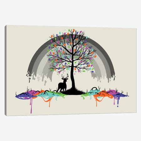 Melting Rainbow Colors Parasite Canvas Print #TFA85} by Tobias Fonseca Art Print