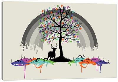 Melting Rainbow Colors Parasite Canvas Print #TFA85