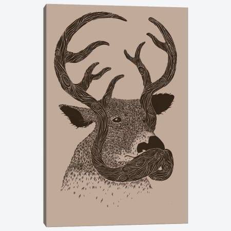 Moustache Make A Difference Canvas Print #TFA87} by Tobias Fonseca Art Print