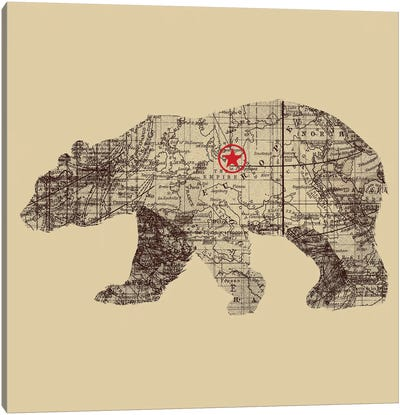 Bearlin Canvas Art Print