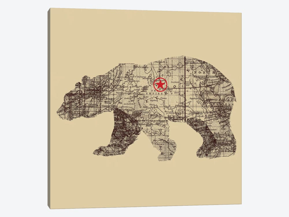 Bearlin by Tobias Fonseca 1-piece Canvas Artwork