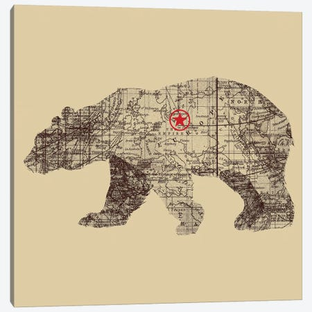 Bearlin Canvas Print #TFA89} by Tobias Fonseca Canvas Artwork