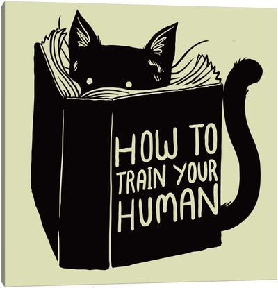 How To Train Your Human Canvas Art Print