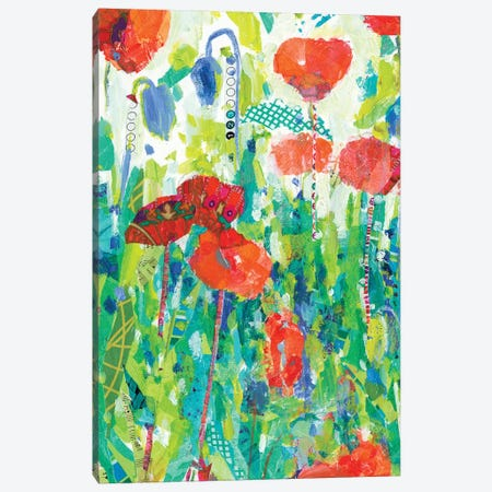 Stately Red Poppies I Canvas Print #TFG16} by Tara Funk Grim Canvas Wall Art