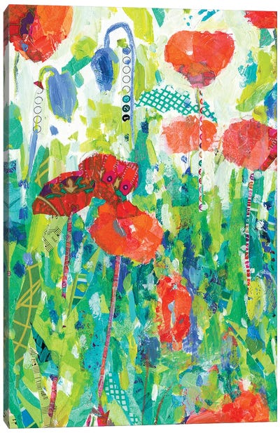 Stately Red Poppies I Canvas Art Print