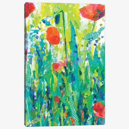 Stately Red Poppies II Canvas Print #TFG17} by Tara Funk Grim Canvas Artwork