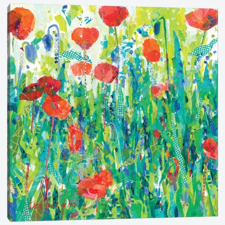 Stately Red Poppies III Canvas Print #TFG18} by Tara Funk Grim Canvas Art Print