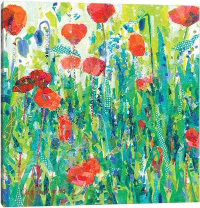 Stately Red Poppies III Canvas Art Print