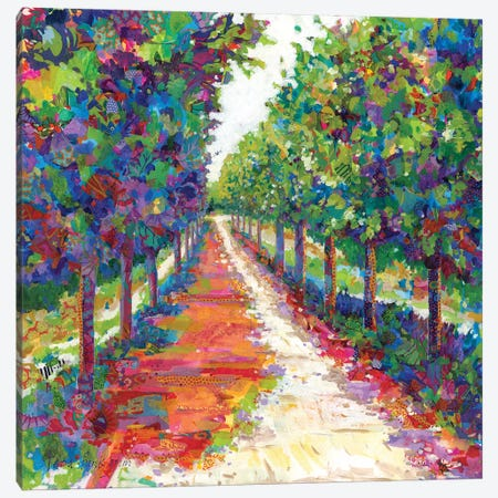 Lime Walk Canvas Print #TFG1} by Tara Funk Grim Canvas Art