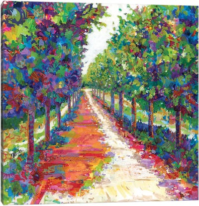 Lime Walk Canvas Art Print