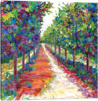 Lime Walk Canvas Art Print