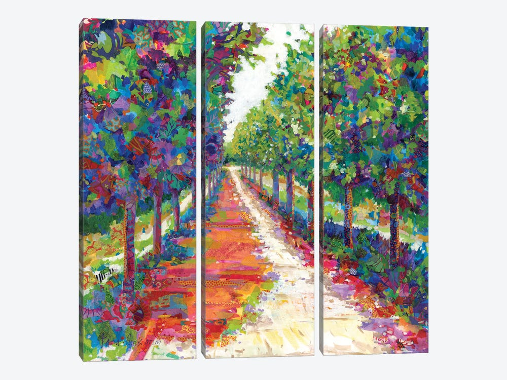 Lime Walk by Tara Funk Grim 3-piece Art Print