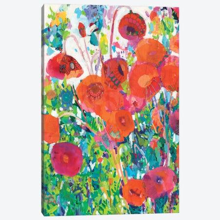Vivid Poppy Collage I Canvas Print #TFG23} by Tara Funk Grim Canvas Artwork