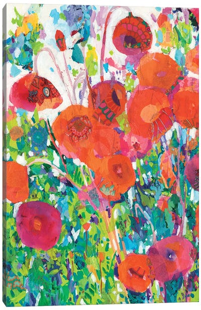 Vivid Poppy Collage I Canvas Art Print