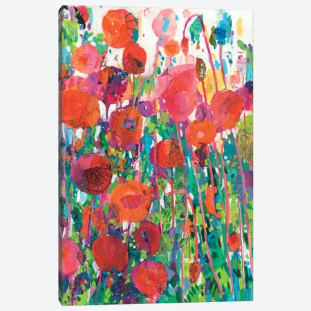 Vivid Poppy Collage II Canvas Print #TFG24} by Tara Funk Grim Canvas Art Print