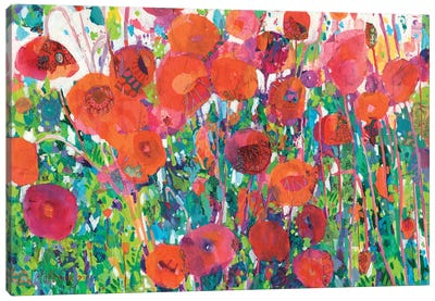 Vivid Poppy Collage III Canvas Art Print