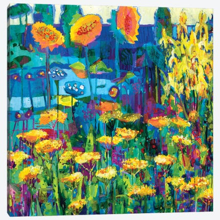 Yellow Garden I Canvas Print #TFG2} by Tara Funk Grim Canvas Artwork
