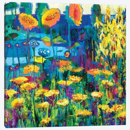 Yellow Garden I Canvas Print #TFG2} by Tara Funk Grim Canvas Artwork