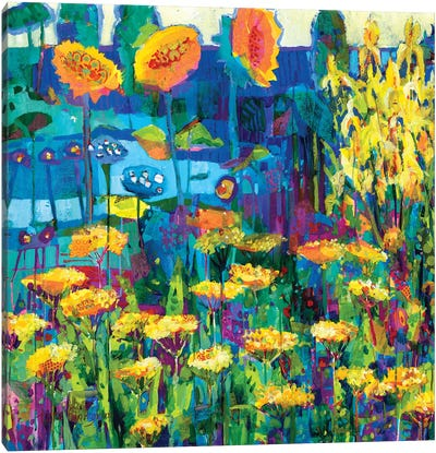 Yellow Garden I Canvas Art Print