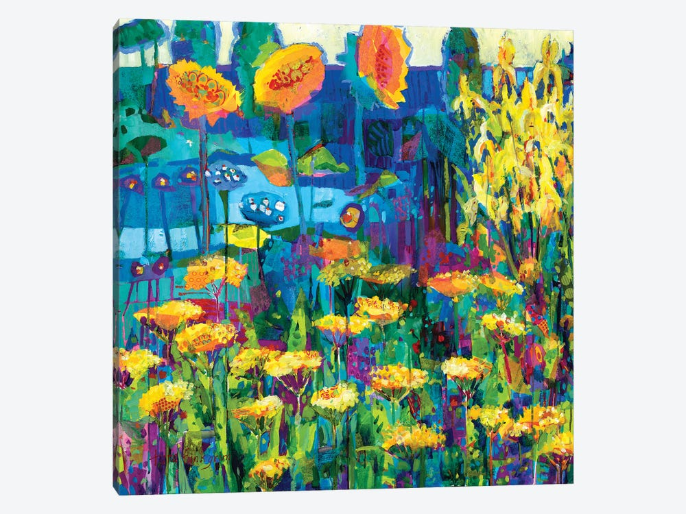Yellow Garden I by Tara Funk Grim 1-piece Canvas Artwork