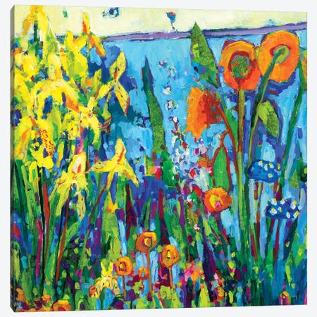 Yellow Garden II Canvas Print #TFG3} by Tara Funk Grim Canvas Artwork