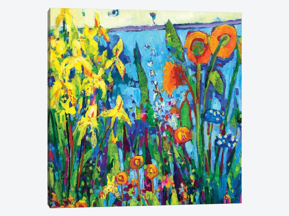 Yellow Garden II by Tara Funk Grim 1-piece Art Print