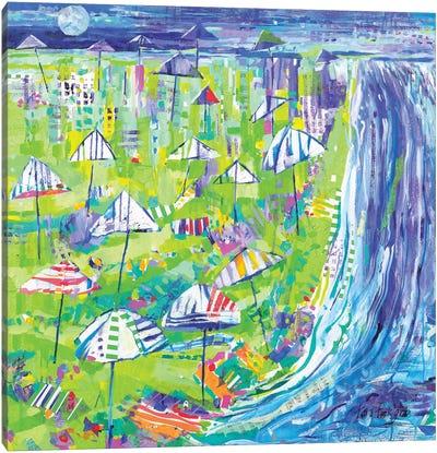 Coastal Fun Collage I Canvas Art Print