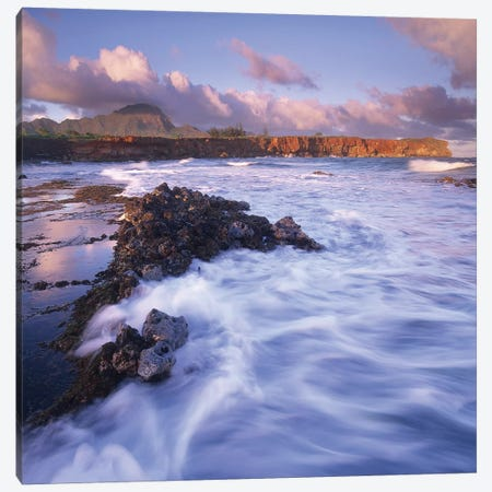 Shipwreck Beach, Kauai, Hawaii Canvas Print #TFI1000} by Tim Fitzharris Canvas Print