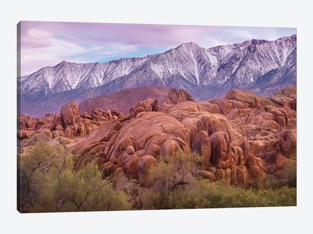 Sierra Nevada Mountains From The Alabama Hills, California by Tim Fitzharris 1-piece Canvas Art