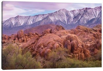 Sierra Nevada Mountains From The Alabama Hills, California Canvas Art Print