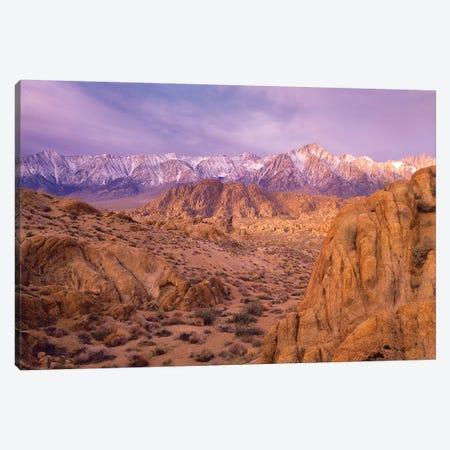 Sierra Nevada Range From Alabama Hills, California Canvas Print #TFI1008} by Tim Fitzharris Canvas Art Print