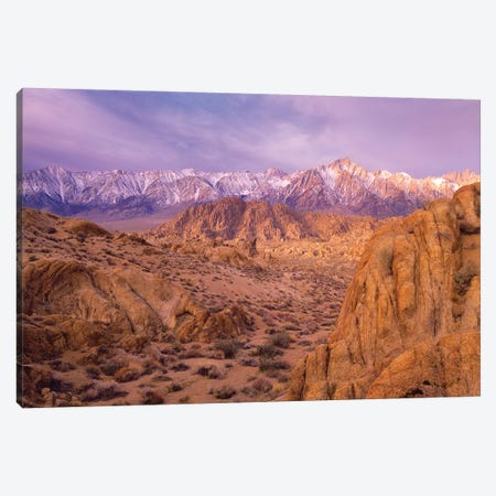 Sierra Nevada Range From Alabama Hills, California Canvas Print #TFI1008} by Tim Fitzharris Canvas Art Print
