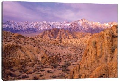 Sierra Nevada Range From Alabama Hills, California Canvas Art Print