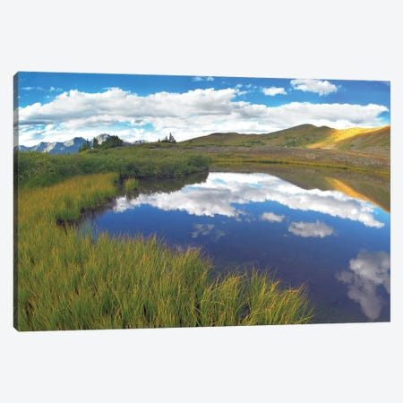 Sky Reflected In Water Cottonwood Pass, Colorado Canvas Print #TFI1011} by Tim Fitzharris Canvas Wall Art