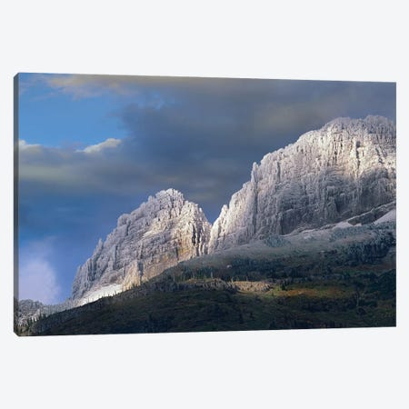 Snow Dusted Mountains, Glacier National Park, Montana Canvas Print #TFI1014} by Tim Fitzharris Canvas Print