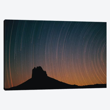 Startrails Over Shiprock In Four Corners Region, New Mexico Canvas Print #TFI1030} by Tim Fitzharris Canvas Art