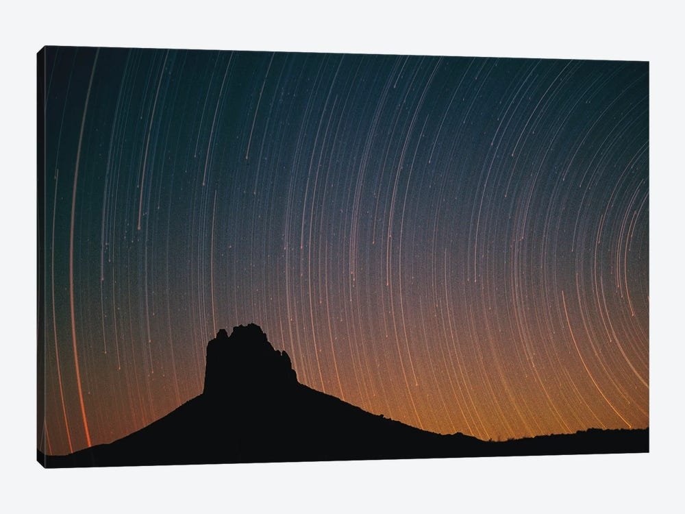 Startrails Over Shiprock In Four Corners Region, New Mexico by Tim Fitzharris 1-piece Canvas Art