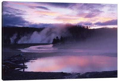 Steaming Hot Springs, Midway Geyser Basin, Yellowstone National Park, Wyoming Canvas Art Print