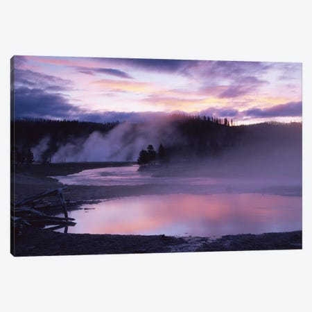 Steaming Hot Springs, Midway Geyser Basin, Yellowstone National Park, Wyoming Canvas Print #TFI1032} by Tim Fitzharris Canvas Artwork