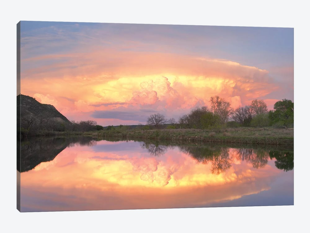 Storm Clouds Over South Llano River, South Llano River State Park, Texas I 1-piece Canvas Artwork